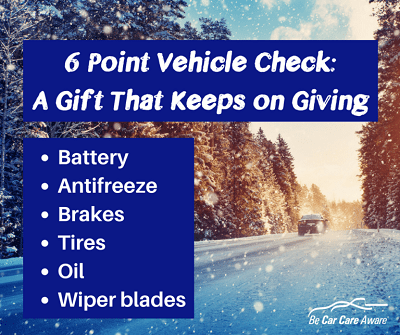 six point vehicle check