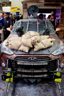 Sand bags atop the hood should help shield the ZSM from whatever runs into it.