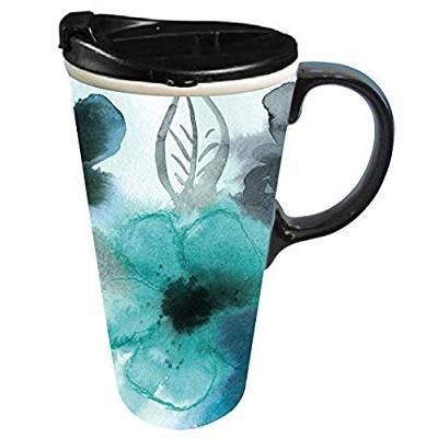 Ceramic Art Cool Designer Mugs Travel Lidded Coffee MugRoad Lj35ARq4