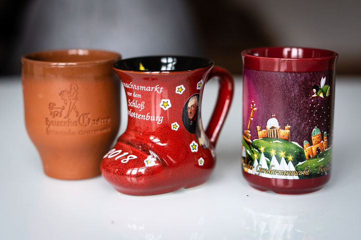 Mugs from travel to Germany