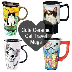 Cute Cats On Ceramic Travel Mugs