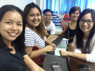 These are my groupmates in DEVC 126. We've been through thick and thin during the semester.