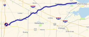 Bowling Green to Port Clinton on 105