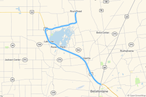 Indian Lake drive to Bellefontaine