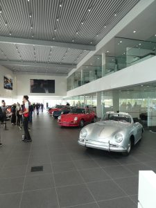 Porsche 356 and carrera 2.7 RS on Porsche&Coffee at Porsche Rive Sud Montreal for Road Rug Cars RoadRugCars Galiffi Brothers Cars