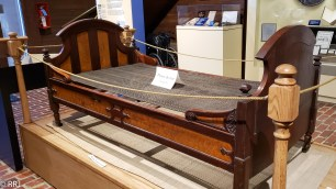 Garfield's Deathbed at the James A Garfield National Historic Site