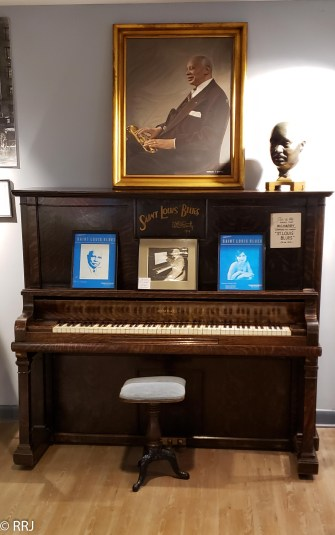 The piano where Handy wrote the St. Louis Blues
