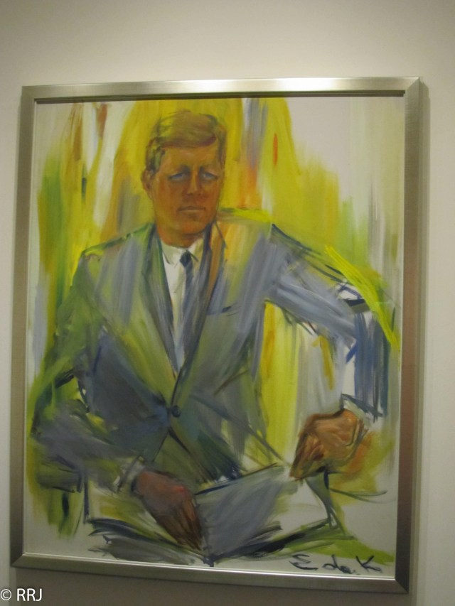Kennedy Portrait at JFK library