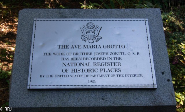sign in Ave Maria Grotto