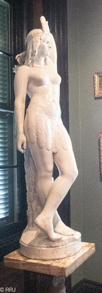 Houmas House Female Houmas Indian sculpture