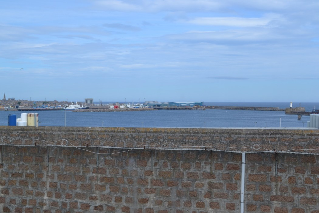 Peterhead Harbour from the prison hospital