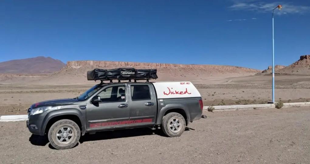 Grenzübergang Argentinien / Chile mit dem Mietwagen