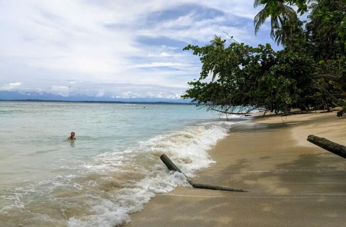 Strand auf der Isla Zapatilla