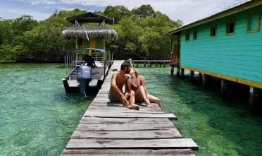 Zwischenstopp auf der Schnorcheltour auf den Bocas del Toro