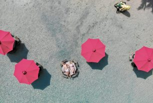 Secret Beach auf Caye Ambergris, der schönste Strand in Belize