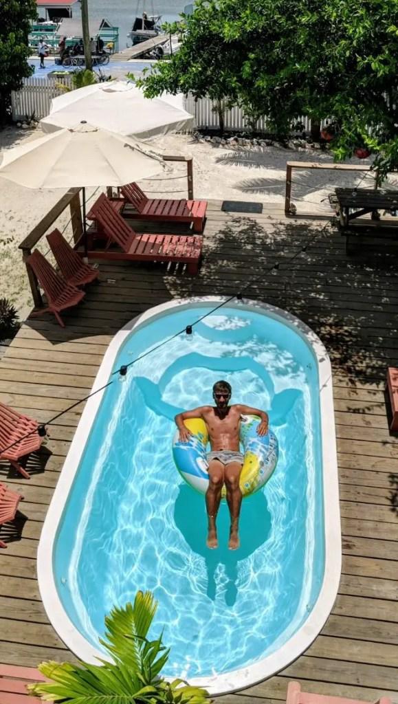 Caye Ambergris Sunset Hotel Pool