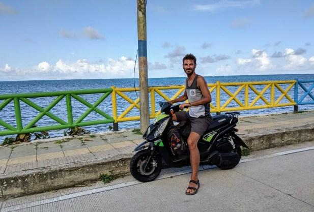 Roller fahren auf Providencia
