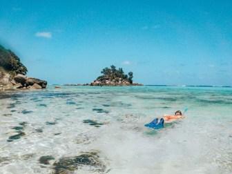Steininsel vor der Anse Royale