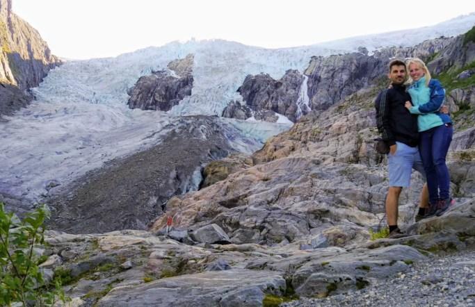 Buarbreen Gletscher, Odda, Norwegen