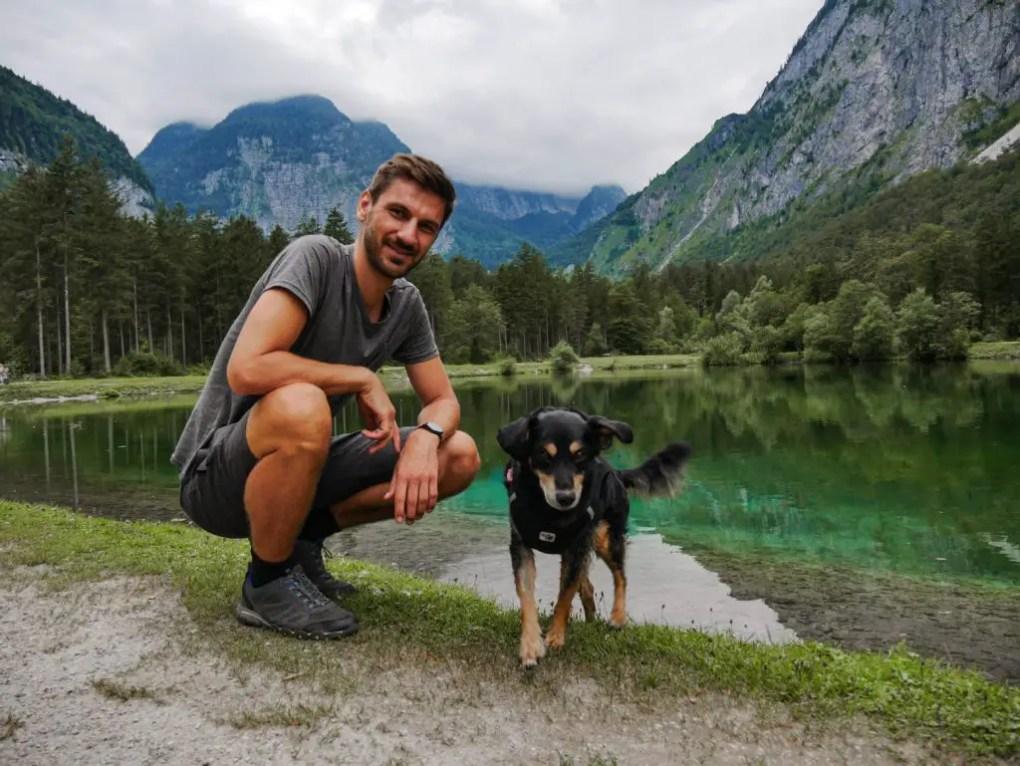 Wanderung am Bluntausee mit Hund