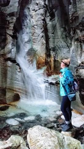 Wasserfall in der zweiten Höhle