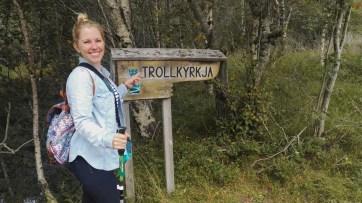 Beginn der Trollkirka Wanderung