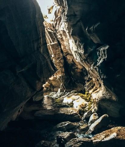 Einstieg zu Höhle 2