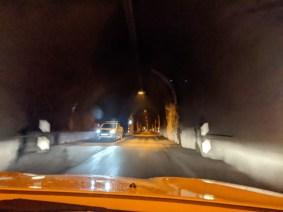 Haltebucht im Tunnel