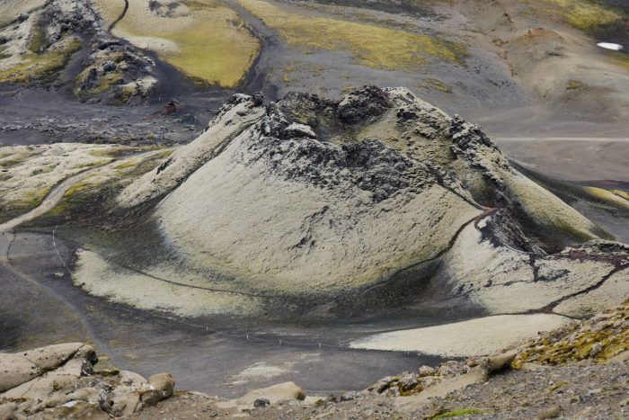 Island Laki Krater