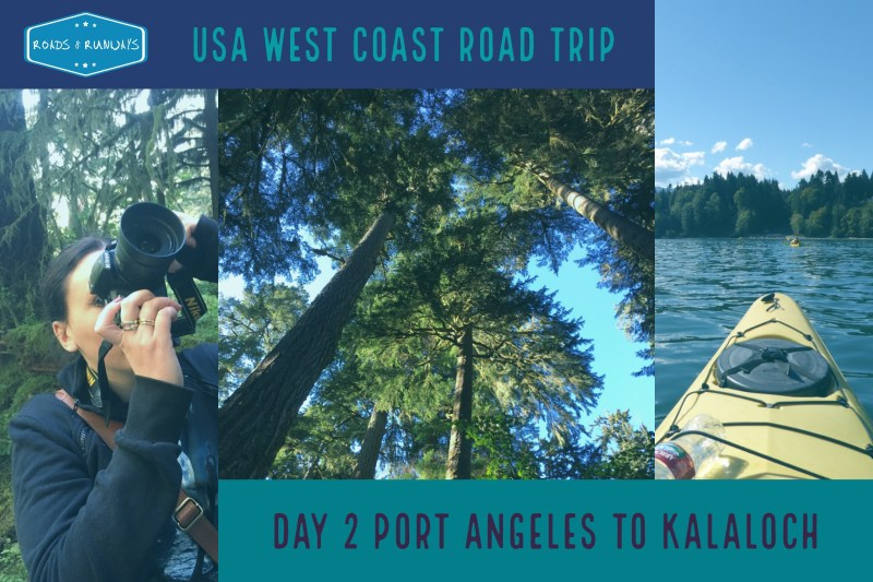 Pinterest image, USA West Coast Road Trip - Day 2 Port Angeles to Kalaloch