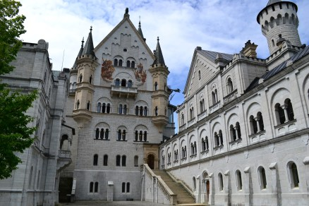 Courtyard inside Neuschwanstein Castle, Bavaria Romantic Road, Germany