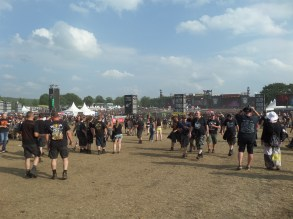 Wacken open air heavy metal festival and fans in Germany