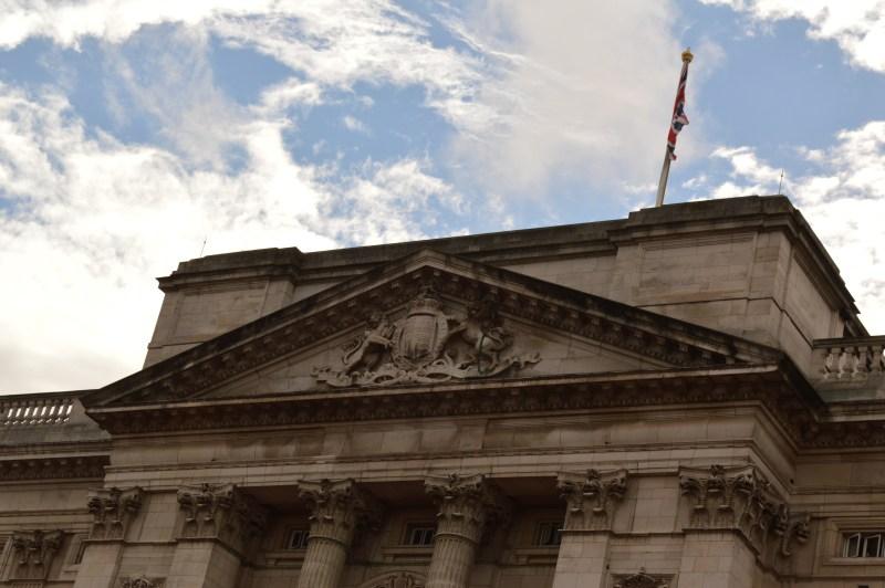 Flag flying at Buckingham Palace