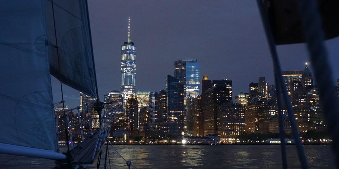 Sailing towards Manhattan on the Shearwater Classic Schooner