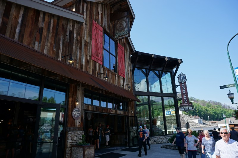 Front of Sugarlands in Gatlinburg Tennessee