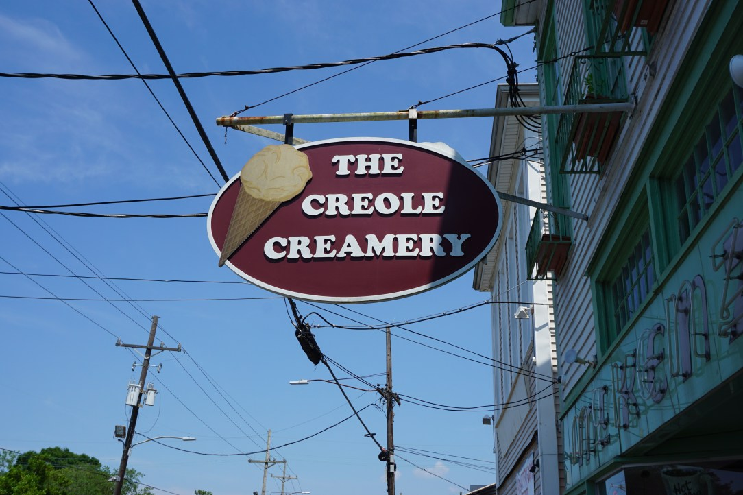 Sign for the Creole Creamery in New Orleans