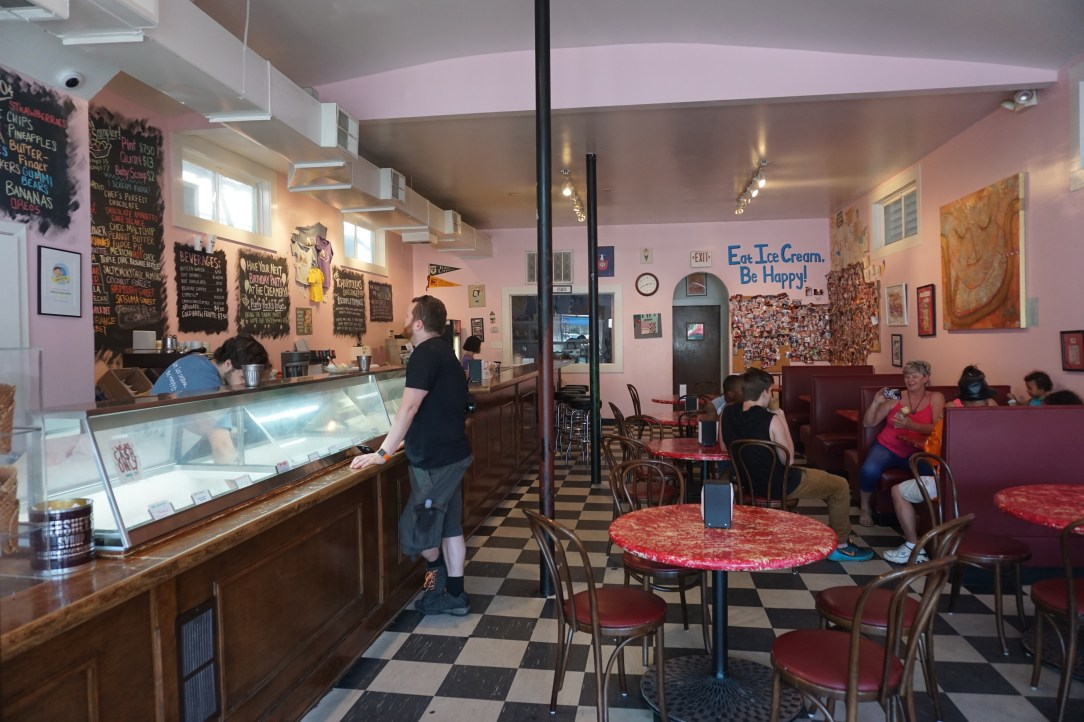 View inside the Creole Creamery in New Orleans
