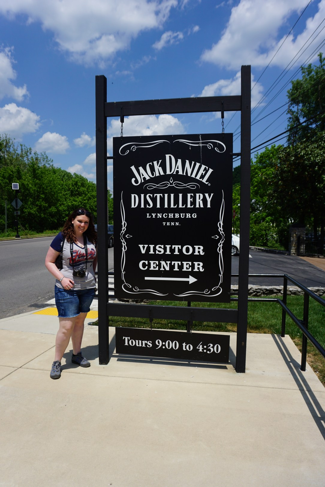 Jack Daniel Distillery Visitor Center Sign
