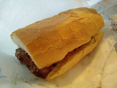 Alligator Sausage Po Boy from Parkway Bakery