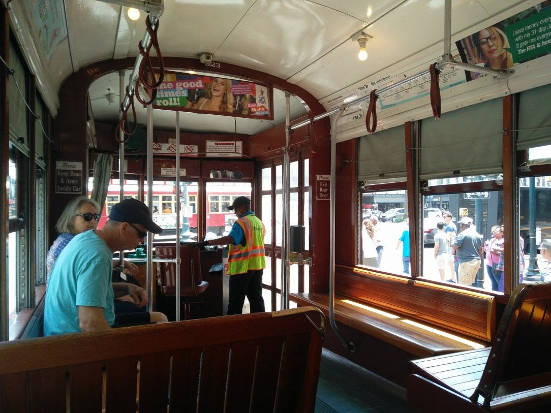 Inside a New Orleans Street Car