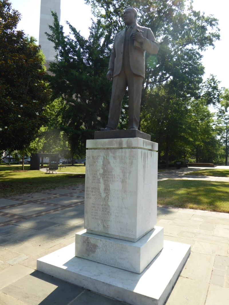 Statue of Martin Luther King Jr in Kelly Ingram Park