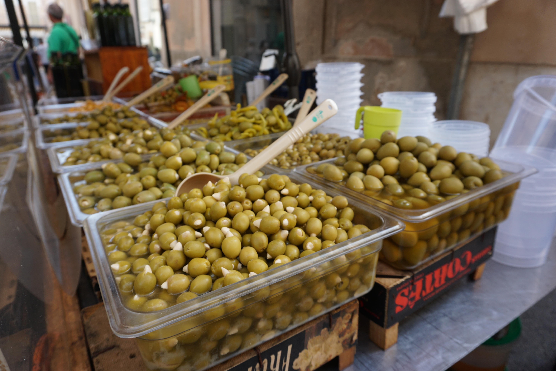 Olives in Majorca at Sineu Market