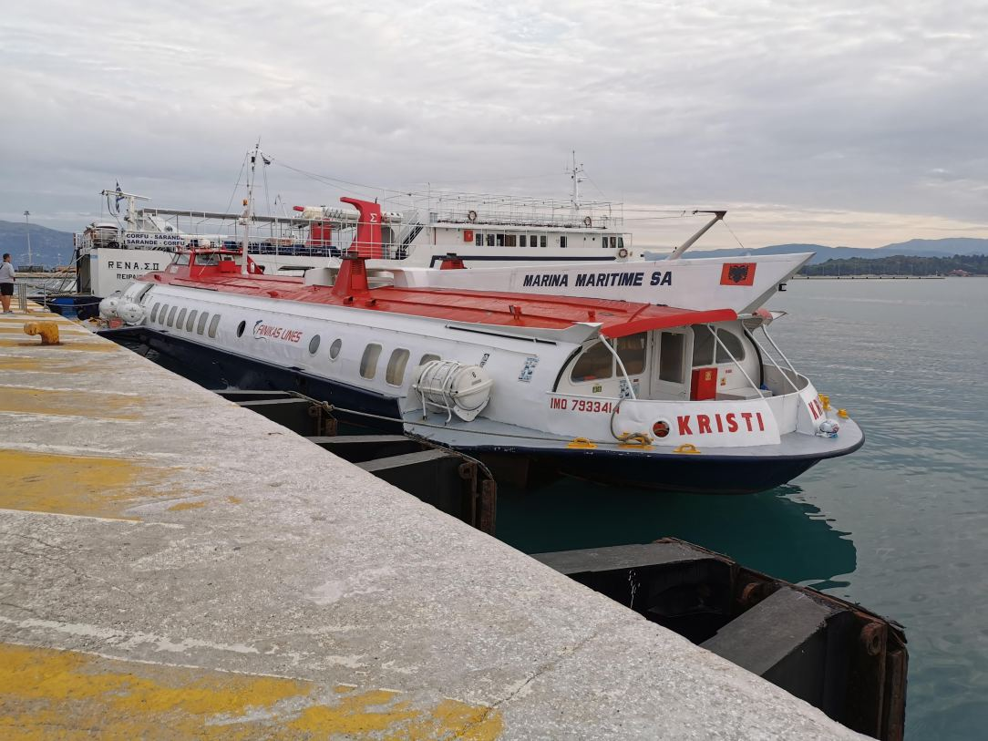 Hydrofoil from Corfu to Albania