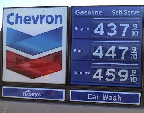 $4 gasoline Richmond California USA june 2008 by RevTimMedia flickr