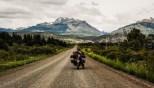 Ο δρόμος μετά το Trevelin προς τα σύνορα