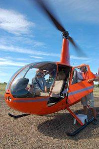 Helicopter rides over Horseshoe Canyon