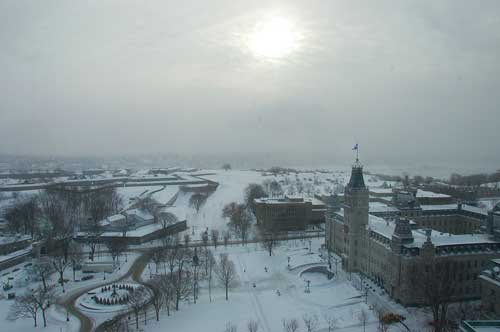 Aftermath of a big winter storm in Quebec City