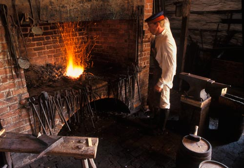 The blacksmith shop at Fort George