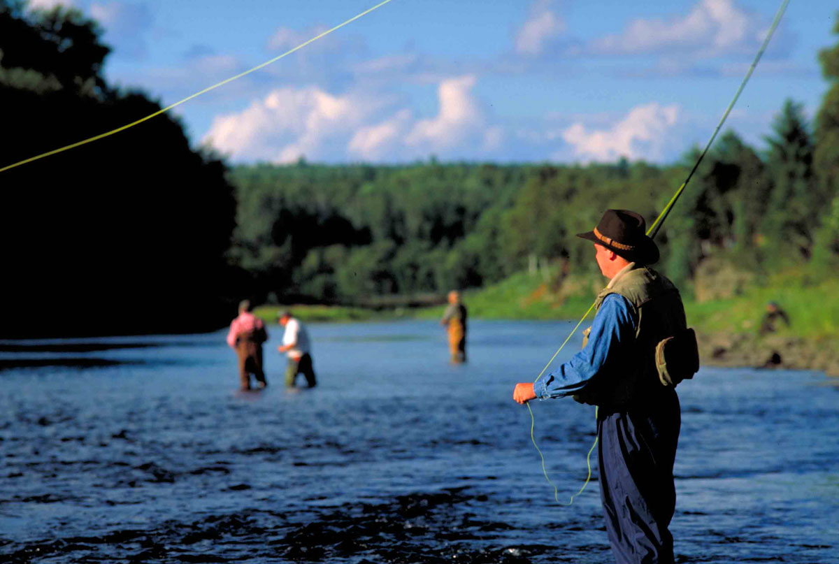 Fly-fishing the Miramichi River in New Brunswick