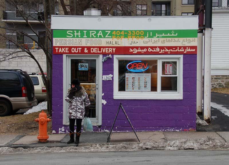 the little Shiraz restaurant in Halifax